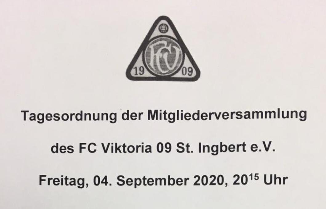 Mitgliederversammlung vom 04. September 2020