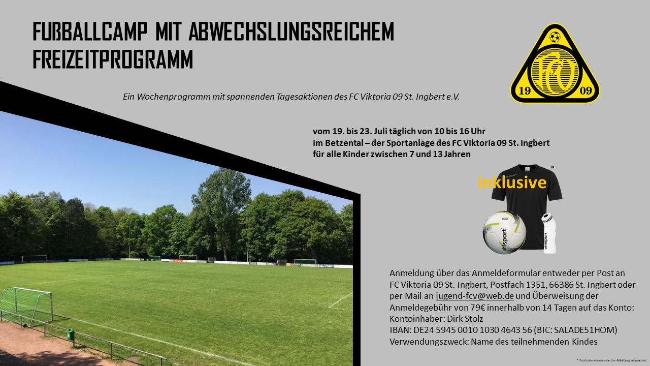 Bevorstehendes Fußballcamp